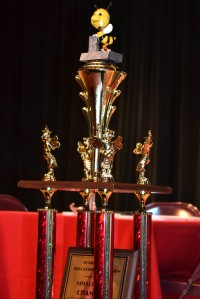 Picture of the spelling bee trophy